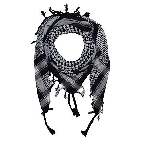 Superfreak Palituch - Karomuster klein schwarz - weiß - 100x100 cm - Pali Palästinenser Arafat Tuch - 100{385b527c3488861a12fbadf759d2c8669f069ba5e964b7756c66d06fdb89b49e} Baumwolle