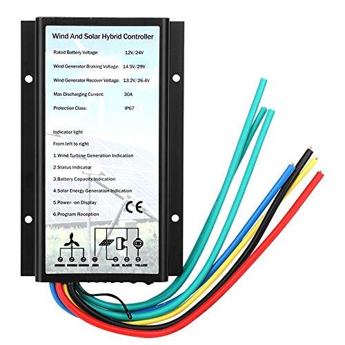 Wind- en zonne-hybride controller 30a Ip67, Wind zonne-hybride oplader Generator-controller IP67 Bescherming elektrische voeding 30A