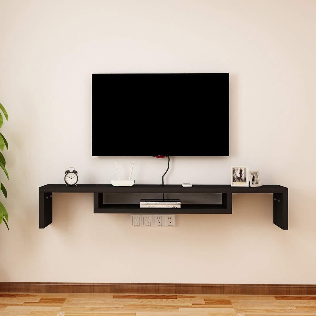 YYHSND Mueble de televisión montado en la Pared Set-Top Box Fondo de la Pared Marco