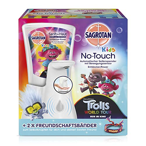Sagrotan No-Touch- Dispensador de jabón para niños automático, olores surtidos