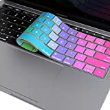 Kuzy Compatible with MacBook Pro Keyboard Cover with Touch Bar for 13 and 15 inch 2019 2018 2017 2016 (Apple Model A2159, A1989, A1990, A1706, A1707) Silicone Skin Protector, New Rainbow