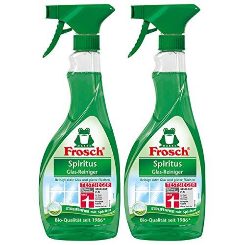 2x Frosch Spiritus Glas-Reiniger Sprühflasche 500 ml