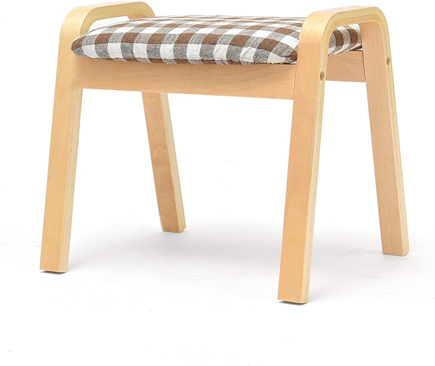 CQ Lattice Home Stool Creative Stool Living Room Adult Solid Wood Bench Fabric Stool Sofa Change shoes Bench