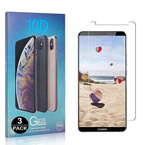Bear Village® Verre Trempé pour Huawei Mate 10 Pro, Sans Bulles Protection en Verre Trempé Écran pour Huawei Mate 10 Pro, Dureté 9H, 99% Transparent, 3 Pièces