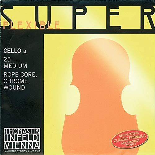Thomastik Einzelsaite für Cello 4/4 Superflexible - A-Saite Stahlseilkern, Chrom umsponnen, weich
