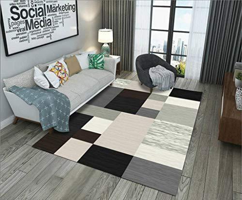 HOCOL Weiche Modern Teppich Einzigartig Teppichunterlage Rechteck Teppichboden Verwendet Für Innenbereich FußMatte Wohnzimmer Schlafzimmer Décoration Raumdekoration-50×80CM-AW
