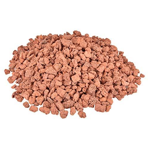Mr. Fireglass 4,5 kg Lavasteine rot Naturstein Granulat für Gas Feuerstelle Kamin & Gas Log Set – Dekorative Landschaftsbausteine für Innen und Außen, 1,0 cm – 2,0 cm Größe