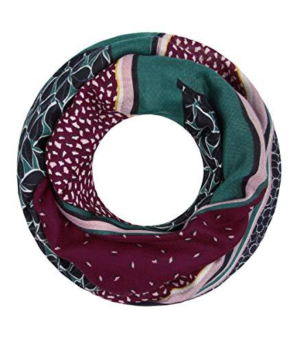 Majea Loop Schal Damen Schlauchschal - viele Farben - modischer Loopschal - Halstücher (rot 10)
