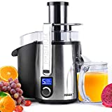 """Centrifugal Juicer Machine - 1100W Juice Maker Extractor, 5-Speed Juice Processor Fruit and Vegetable, 3"""" Feed Chute Stainless Steel Power Juicer, Anti-drip, BPA Free"""