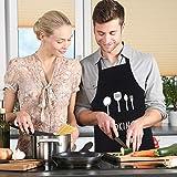 GHJK Kochschürze Set Mit Handschützern Taschen Latzschürze Wasserdicht Baumwolle Leinen Für Restaurant (Schwarz) - 5