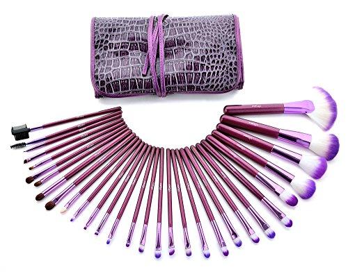 Glow Purple Makeup Brushes Setup-Set - 30-teiliges Set für Gesichts- und Augen-Make-up -...