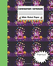 Composition Notebook Wide Ruled Paper: Scary Halloween Candy Themed Journal - Fun Gift for Girls Boys Teens Teachers & Students   Blank Lined Workbook for Work or School. Trick or Treat Edition