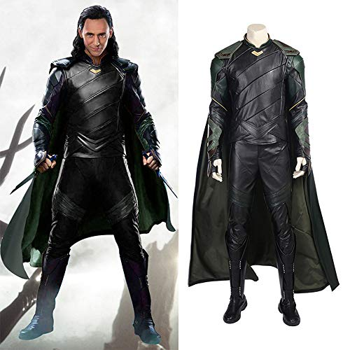 Lydia's Anime Loki Costume Cosplay Collant Costumi Cosplay Mantello Serie Completa Outfit Unisex Serie Completa Uniforms for Halloween S