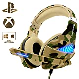 Gaming Headset for PS4 Xbox One PC, Beexcellent Deep Bass PS4 Headset...