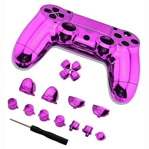 Floridivy Volledige Plated Controller Set Bumpers Triggers knop, Gamepad triggers, Knoppencombinatie Dpad LB RB LT RT Case schroevendraaier Vervanging voor PS4 Controller
