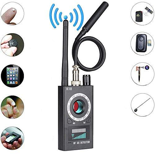 Detector de Cámara Anti-Espía, Detector de señales RF, Detector de Señales Inalámbricas Lente láser Detector gsm Sensibilidad Ultra Alta Buscador de Rastreadores de Rango Completo