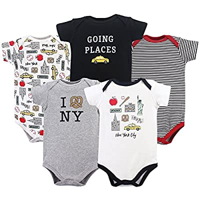 Hudson Baby Unisex Cotton Bodysuits, New York, 0-3 Months