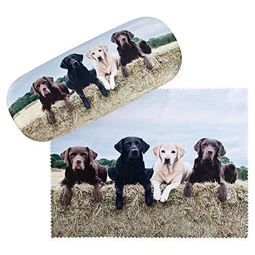 VON LILIENFELD Labrador Retriever Brillenetui Leicht Box Hardcase Geschenk Motiv Damen Herren Hunde