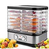 Dörrautomat mit Temperaturregler, 7 Etagen Dörrgerät für Lebensmittel, Obst- Fleisch- Früchte-Trockner, Dehydrator, BPA-frei