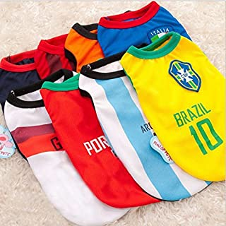 Fab Furry Baby World Cup Sports Jerseys for Pet Dogs or Cats.