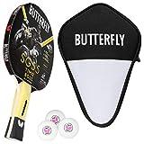 Butterfly Timo Boll SG55 - Juego de raquetas de ping pong y funda de celdas