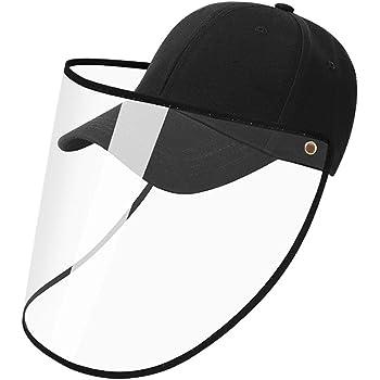 YLYYCC Baseball Cap-Anti-Spittle Splash Dust-Proof Sunscreen Detachable Adjustment Washable Full Face Protection Baseball Cap for Men and Women-Black
