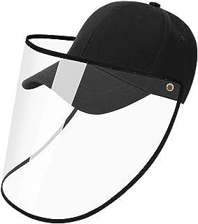 YLYYCC Baseball Cap-Anti-Spittle Splash Dust-Proof Sunscreen Detachable Adjustment Washable Full Face Protection Baseball ...