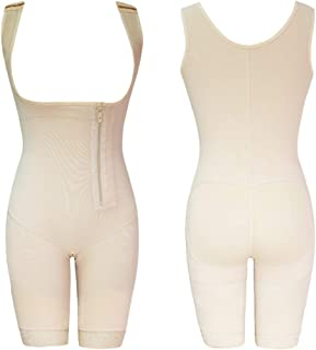 Latex Women's Body Shaper Post Liposuction Girdle Clip Zip Bodysuit Vest Waist Reductoras Shapewear