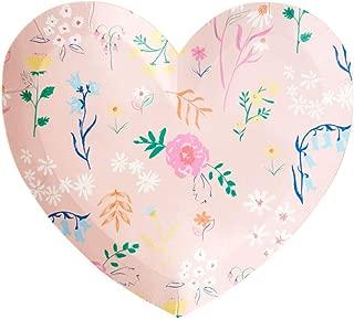 Meri Meri, Wildflower Heart Plate, Birthday, Party Decorations - Small