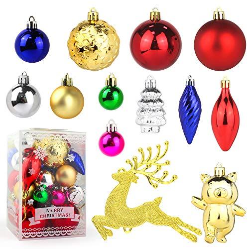 PTN Arbol de Navidad Decoraciones Bolas, 31pcs Christmas Tree Decorations Baubles Set, Árbol de Navidad con Decoración de Bolas de Navidad, para Adornos de Decoración de Banquete de Boda Festivos