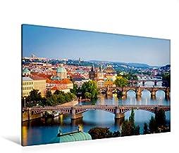 Premium Textil-Leinwand 120 cm x 80 cm transversal, la ciudad dorada, el París del Este, una de las ciudades más bellas del mundo, la imagen de la capital de Böhmens (CALVENDO Orte);CALVENDO lugares.