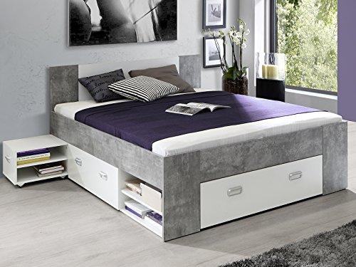 Bett Einzelbett Bettrahmen Kompaktbett Bettanlage Bettgestell