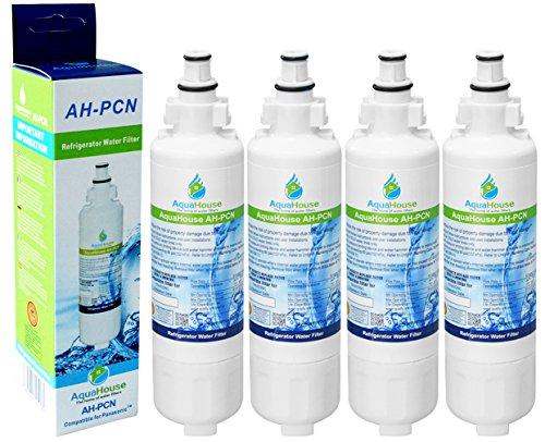 4x AquaHouse AH-PCN filtro de agua compatibles para Panasonic nevera CNRAH-257760, CNRBH-125950