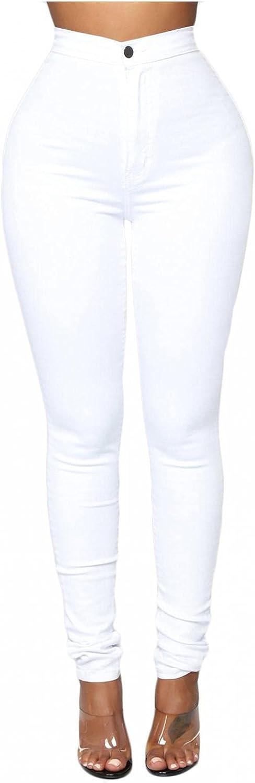 FUNEY Women's Jean Look Jeggings Tights Slimming Scrunch Ruched Butt Lift Booty Leggings Comfy Skinny Pants,Capri,Bermuda
