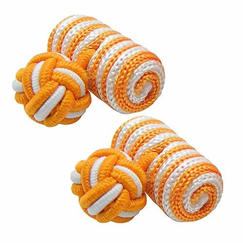 選べる14色 ガムカフス オレンジ ストライプ 【カフスボタン・カフリンクス】 nsgum002-3