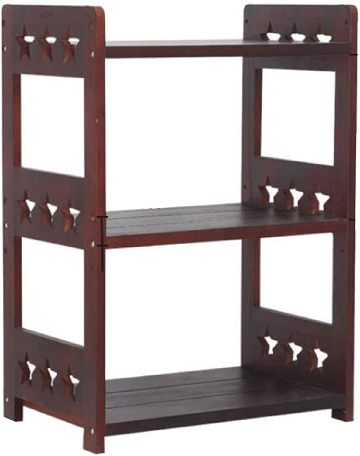 FLYSXP Tree-Shaped Solid Wood Bookshelf Bedroom Small Bookcase Multi-Layer Living Room Office Storage Shelf Book Stand (Size   7 Tiers)