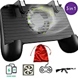 Mobile Game Controller with Built-in Cooling Fan &【Upgraded 4000mAh】 Power Bank + Carrying Case, Compatible Play with Fortnite/PUBG On Any iPhone and Android Devices Between 4' -6.5'