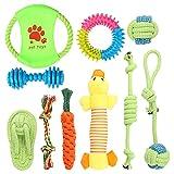 Wishstar Welpenspielzeug, Hundespielzeug Set, 10pcs Langlebiges Welpen Spielzeug für Kleine und Mittlere Hunde für Kauspielzeug Spielsachen, Intelligenz Hunde Spielsachen, Natürlicher Baumwolle