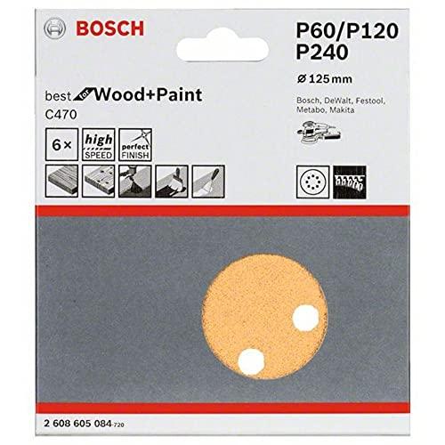 Jogo Discos de Lixa Bosch Best for Wood&Paint; 125mm