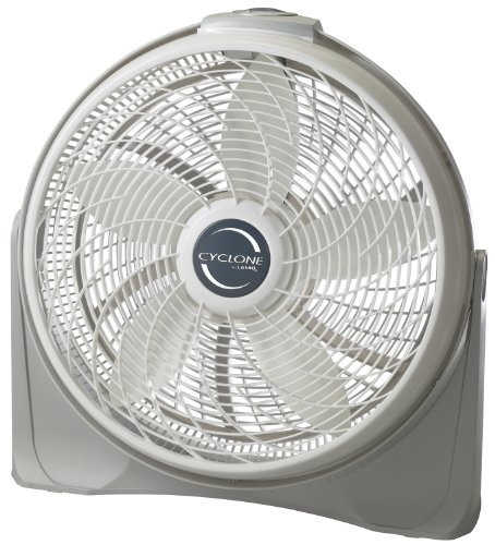 "Lasko 3520 20"" Cyclone Pivoting Floor Fan,White 20"
