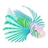 OyunngsPeces Artificiales, Adornos de Acuario de Peces Fluorescentes Azules Peces de Silicona Artificial 3D, para decoración de paisajes de acuarios