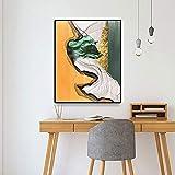 Todas las obras de arte arte abstracto cartel impresión lienzo pintura caligrafía pintura decorativa sala de estar dormitorio hogar sin marco lienzo decorativo pintura A75 40x60cm