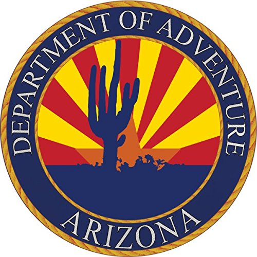 Arizona Sticker Az State Flag Seal Adventure Apply To Water Bottle Laptop Cooler Car Truck Bumper Tumbler 602 Roots Grand Canyon Saguaro Cactus