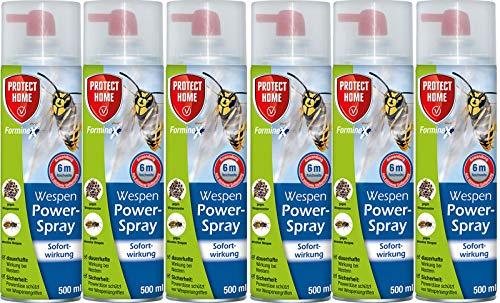 mächtig Home Wasp Power Spray Schützt 6 x 500 ml – Free Guard Pier Mite Pinzette