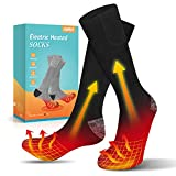 Jomst Electric Heated Socks, Rechargeable Battery 3 Heating Settings Thermal Sock for Men & Women, Winter Skiing Hunting Camping Hiking Driving Warm Cotton Socks