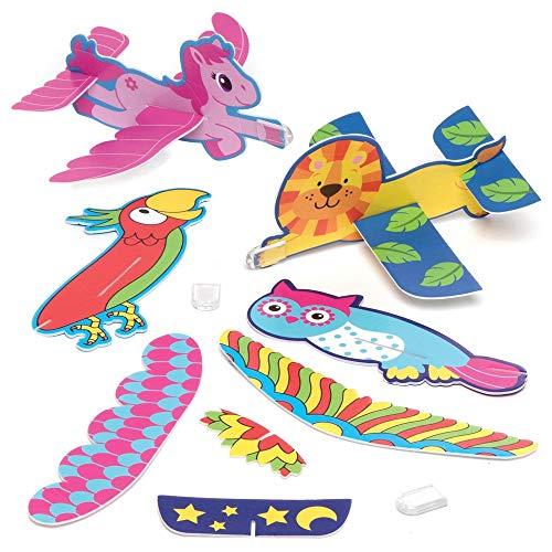 Baker Ross Zweefvliegtuigjes Voordeelverpakking (12 stuks) Speelgoed en Traktaties voor Kinderen