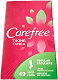 Carefree Thong Pantiliners-Unscented-49 ct (Pack of 3) panty liners Nov, 2020