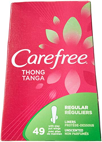 Carefree Thong Pantiliners-Unscented-49 ct (Pack of 3)