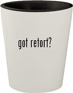 got retort? - White Outer & Black Inner Ceramic 1.5oz Shot Glass