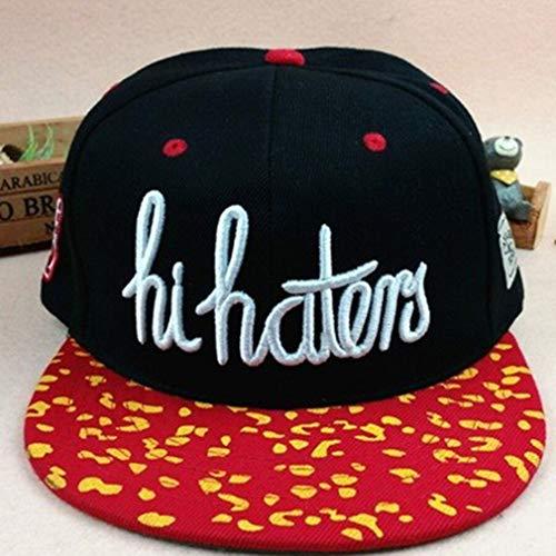 Europese Amerikaanse Stijl Heren Dames Baseball Caps Modieus Hip Hop Type Letter Decoratie Unisex Caps Hoeden zwart en rood